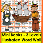 Thanksgiving Emergent Readers - 3 Reading Levels - 3 Versi