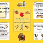 Thanksgiving English Literacy Centers & Stations