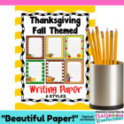 Thanksgiving Fall Themed Writing Paper