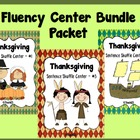 Thanksgiving Fluency Center: Sentence Shuffle BUNDLE PACKET