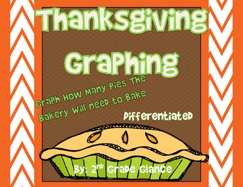 Thanksgiving Graphing-  Differentiated -Help The Bakery Gr
