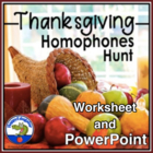 Thanksgiving Hunting Homophones PowerPoint