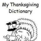 Thanksgiving Initial Sounds Dictionary