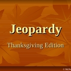 Thanksgiving Jeopardy