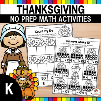 Thanksgiving Kindergarten Math Worksheets
