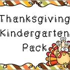 Thanksgiving Kindergarten Pack