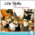 Thanksgiving Life Skills Mini Unit for Speech & Language Therapy