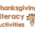 Thanksgiving Literacy Center Activities