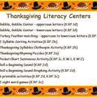 Thanksgiving Literacy Centers Common Core Aligned - 99 pgs!