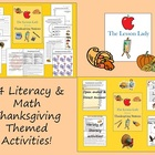 Thanksgiving Literacy & Math Worksheet Centers