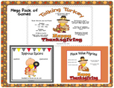Thanksgiving Literacy and Math Center -Place Value, Regrou