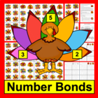Thanksgiving Math Center - Turkey Fact Families - 102 Turk