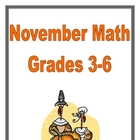 Thanksgiving Math Grades 3-6