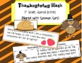 Thanksgiving Math Journal Entries (Aligned to Common Core)