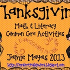 Thanksgiving Math & Literacy Common Core Centers {Thanksgi