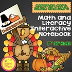 Thanksgiving Math & Literacy Interactive Notebook {Common