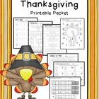 Thanksgiving Math & Literacy {PRINT IT NOW}
