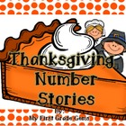 Thanksgiving Math Number Stories