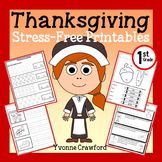 Thanksgiving Math and Literacy Stress-Free Printables - Fi