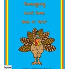 Thanksgiving Noun or Verb Scoot Quiz Cards