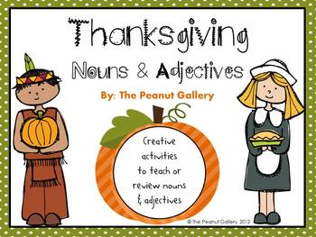 Thanksgiving Nouns & Adjectives