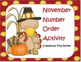 Thanksgiving Number Order Activities