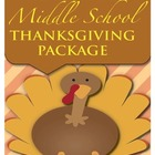 Thanksgiving Packet - Middle School ELA/History