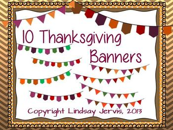 Thanksgiving Pennant Banner Clipart