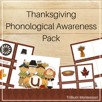 Thanksgiving Phonological Awareness Pack
