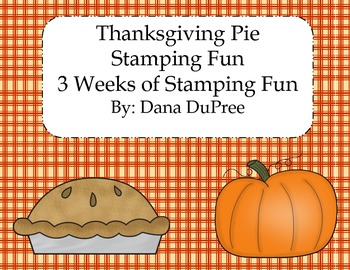 Thanksgiving Pie Stamping Fun