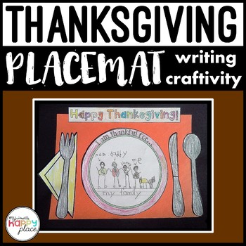 Thanksgiving Placemat Craftivity