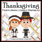 Thanksgiving Quick Common Core Literacy (4th grade)