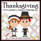Thanksgiving Quick Common Core Literacy (5th grade)