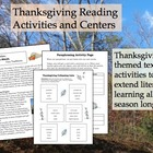 Thanksgiving Reading Activities and Centers
