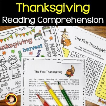 Thanksgiving Reading/ Vocab/ Strip Story/ WH-Questions/ Fact or Opinion/ Puzzle
