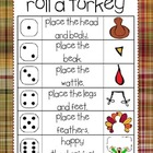 Thanksgiving Roll and Draw a Turkey (2 games in 1)