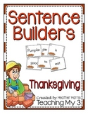 Thanksgiving Sentence Builders