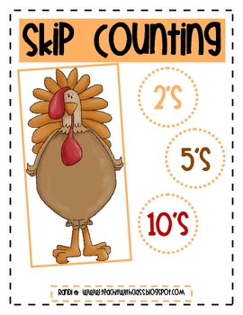 Thanksgiving Skip Counting