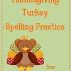 Thanksgiving Spelling Practice
