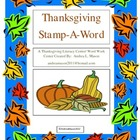 Thanksgiving Stamp - A - Word Literacy/Word Work Center