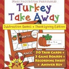 "Thanksgiving Subtraction ""Turkey Take Away""  {Page Protect"