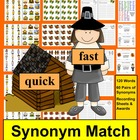 Thanksgiving Literacy Centers- Synonyms Activities - 4 Way