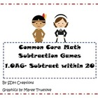 Thanksgiving Theme- Common Core Math Games: Subtract Withi