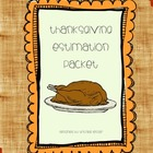 Thanksgiving Themed Estimation Word Problems