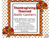 Thanksgiving Themed Primary Math Centers