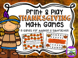 Thanksgiving Themed Print and Play Math Games