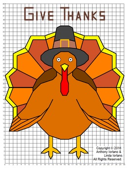Thanksgiving, Turkey, Coordinate Graphing & Drawing, Mystery Picture