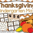 Thanksgiving Turkey Math: 10 Kindergarten Games Aligned to