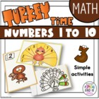 Thanksgiving Turkey Number Counting - Numbers 1 to 10