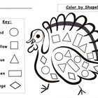 Thanksgiving Turkey Shape Activities Set